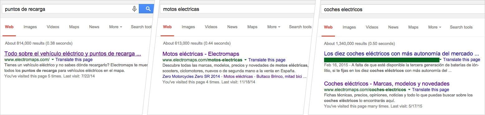Google resultados